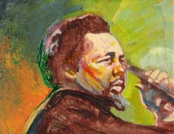 Charles Mingus Print featuring the painting Mingus by Michael Facey
