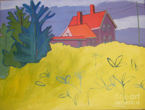 Lighthouse Art Print featuring the painting Monhegan Light by Debra Bretton Robinson