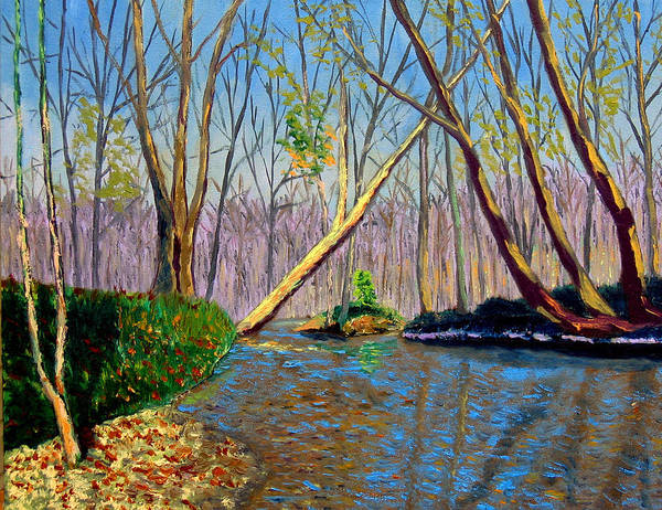 Creek Art Print featuring the painting Mooresville November by Stan Hamilton