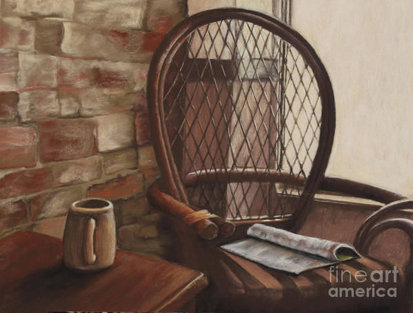 Interior Scene Art Print featuring the pastel Morning Haven by Tina Foote