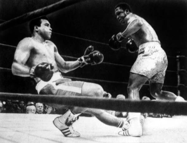Ali Print featuring the photograph Muhammad Ali Knocked Down By Joe by Everett