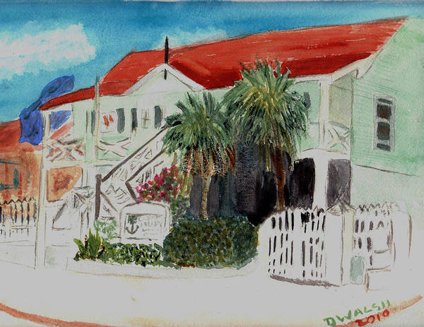 Nautical Art Print featuring the painting Nautical Museum Georgetown by Donna Walsh