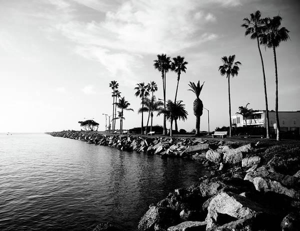 Balboa Peninsula Art Print featuring the photograph Newport Beach Jetty by Paul Velgos