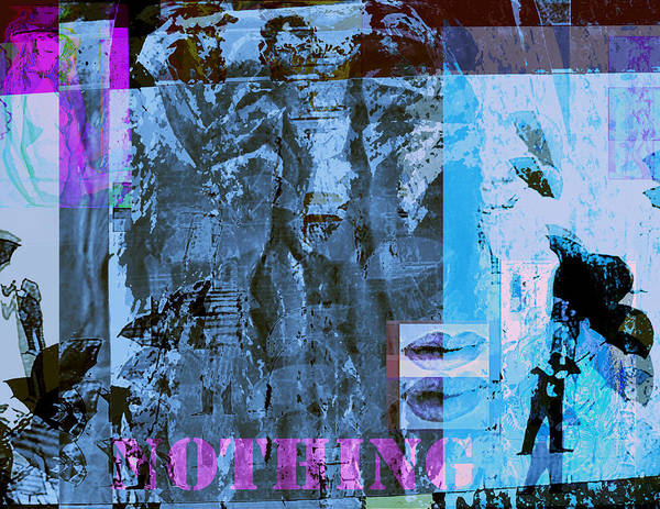 Plasticity Art Print featuring the painting No Things - Nothing by Noredin Morgan