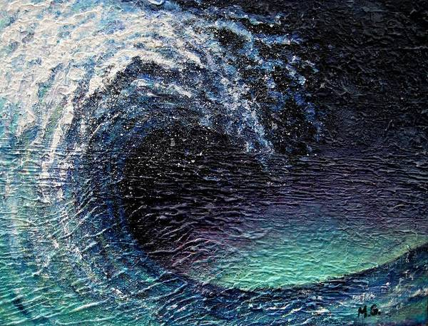 Ocean Art Print featuring the painting Ocean Wave by Mirjana Gotovac