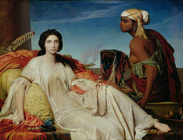 Odalisque Art Print featuring the painting Odalisque by Francois Leon Benouville