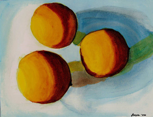 Still Life Art Print featuring the painting Oranges by Lois Boyce