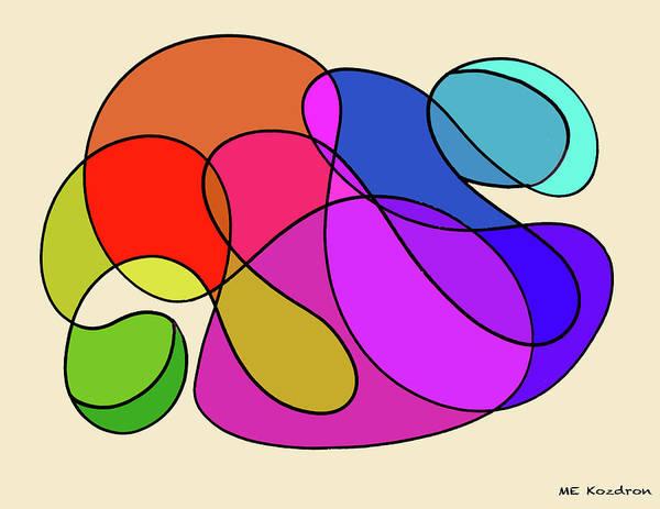 Modern Art Print featuring the digital art Organic Kaleidoscope by ME Kozdron