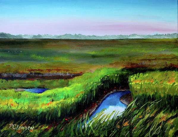 Jersey Shore Art Print featuring the painting Outgoing Tide by Phyllis London