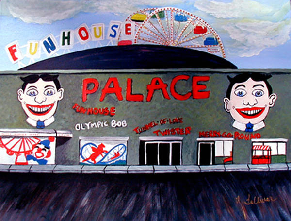 Tillie Art Print featuring the painting Palace Amusements Asbury Park Nj by Norma Tolliver