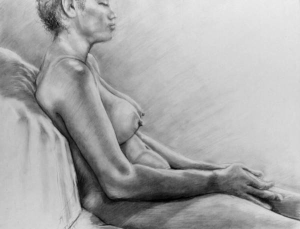 Woman Art Print featuring the drawing Peace by John Clum