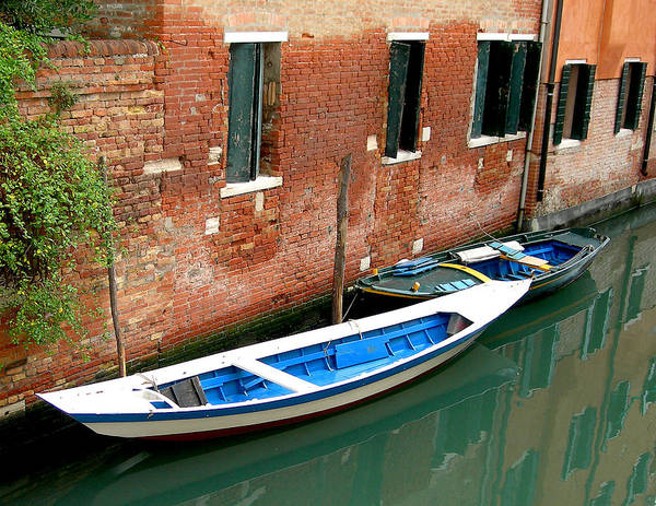 Art Print featuring the photograph Peacefull Canal Parking by Joseph Reilly