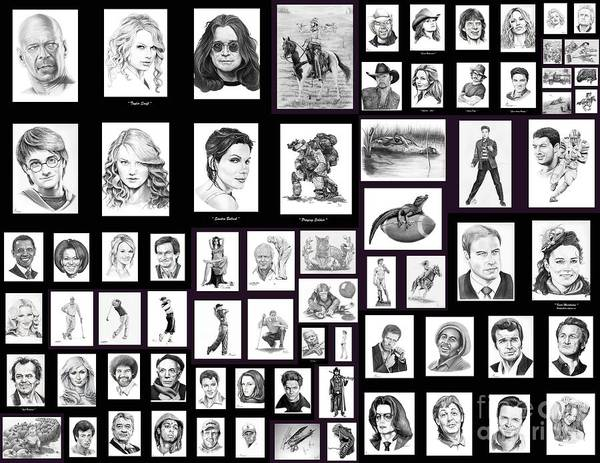 Portraits Art Print featuring the drawing Portrait And Illustrations On Fine Art America by Murphy Elliott
