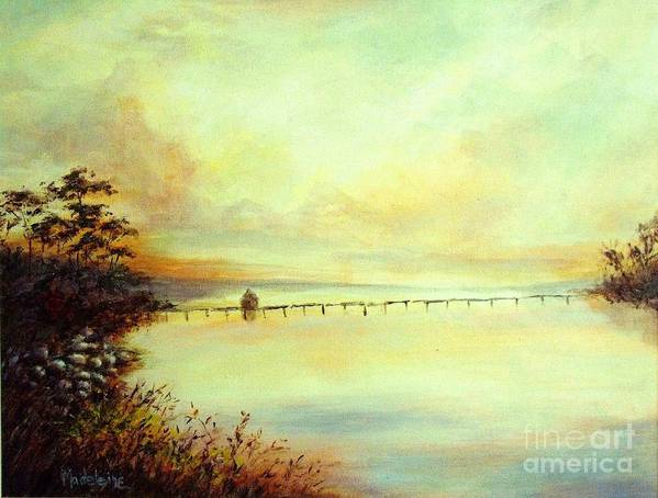 Canvas Prints Art Print featuring the painting Prelude by Madeleine Holzberg