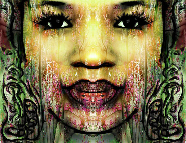Female Abstract Portrait Art Print featuring the digital art Princess Of Tindra by Devalyn Marshall