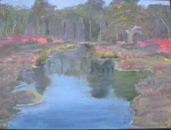 Landscape Art Print featuring the painting Reflection by Sheryl Sutherland