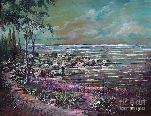 Nature Art Print featuring the painting Reflections by Sinisa Saratlic