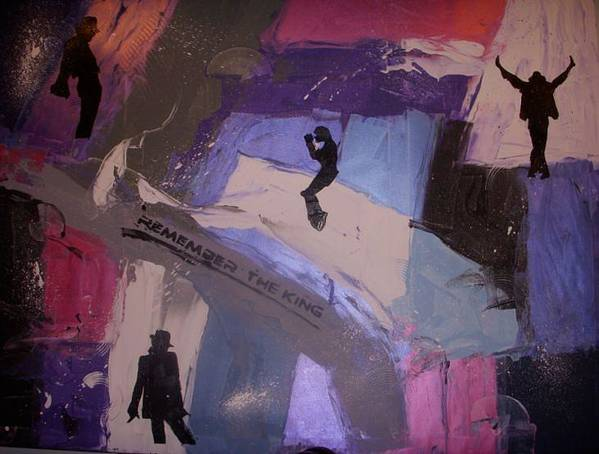 Abstract Art Print featuring the painting Remember The King by Joey Santiago