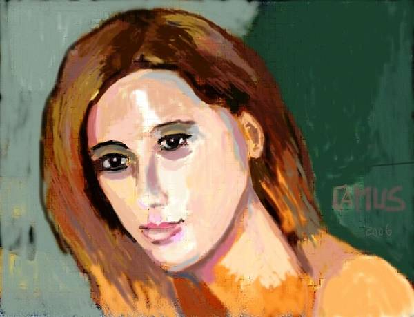 Art Art Print featuring the painting Retrato Patricia by Carlos Camus