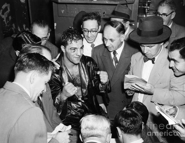 1951 Art Print featuring the photograph Rocky Marciano (1924-1969) by Granger
