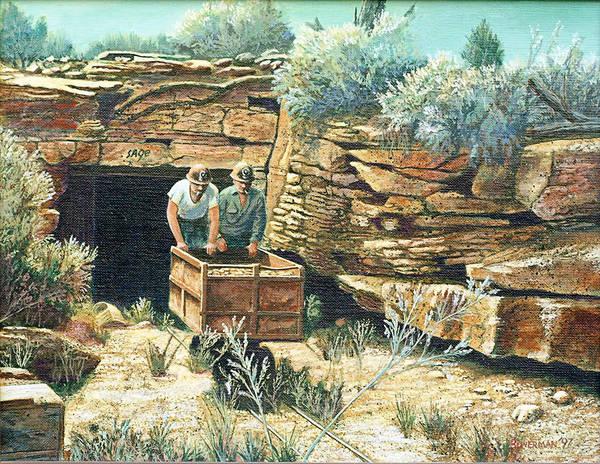 Uranium Mining Art Print featuring the painting Sage Mine by Lee Bowerman