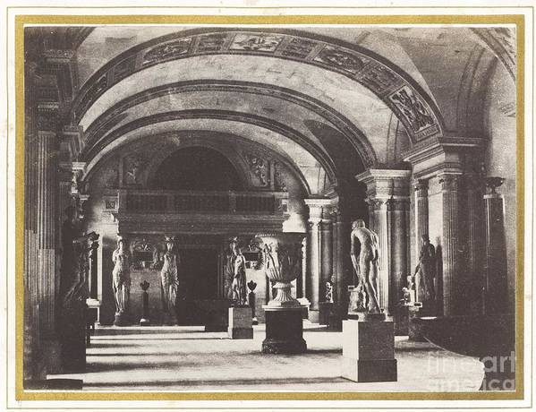 Art Print featuring the photograph Salle Des Cariatides, Au Mus?e Du Louvre by Charles Marville