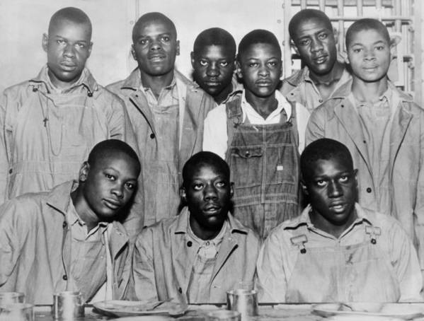 History Art Print featuring the photograph Scottsboro Boys In Jefferson County by Everett