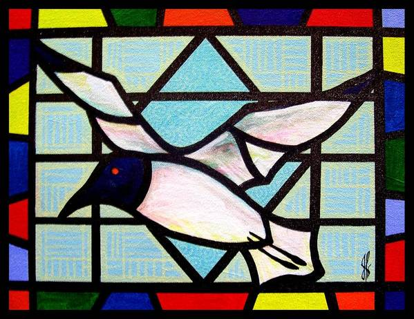 Seagull Art Print featuring the painting Seagull Serenade by Jim Harris