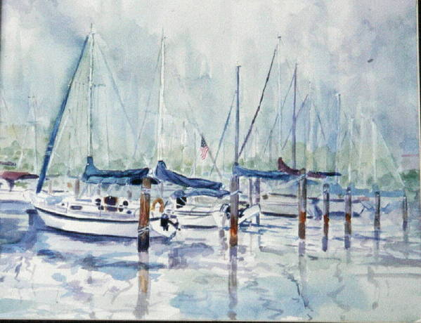 Marina Art Print featuring the painting September Mourning by Ruth Mabee