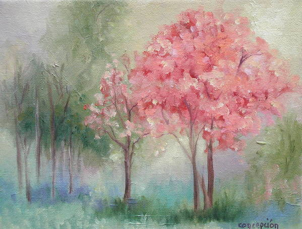 Spring Art Print featuring the painting Sign Of Spring by Ginger Concepcion