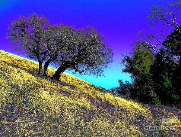 Blue Sky Art Print featuring the photograph Sky Burning Blue by JoAnn SkyWatcher