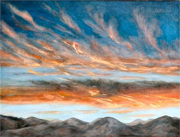 Sunset Art Print featuring the painting Southwest Sunset by Merle Blair