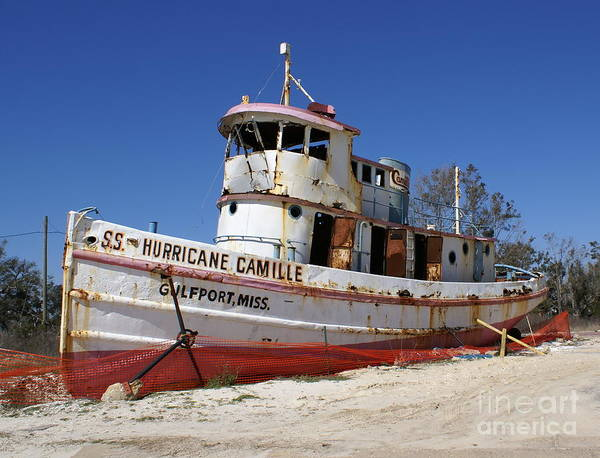 Ship Art Print featuring the photograph S.s. Hurricane Camille by Debbie May