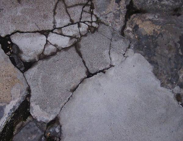 Bstract City Sidewalk Urban Chicago Industrial Art Print featuring the photograph Step On A Crack 3 by Anna Villarreal Garbis