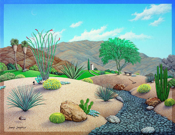 Landscape Art Print featuring the painting Steve's Yard by Snake Jagger