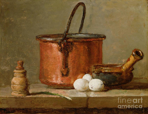 Still Art Print featuring the photograph Still Life by Jean-Baptiste Simeon Chardin
