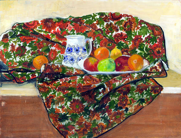 Still Life Art Print featuring the painting Still Life With Fruit by Ethel Vrana