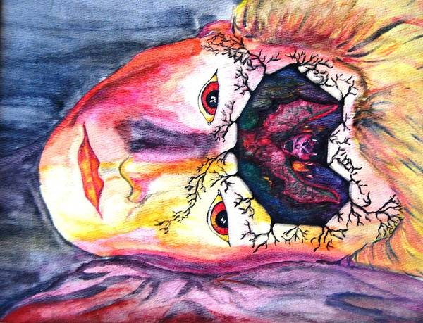 Sting Art Print featuring the mixed media Sting Having A Nightmare by Angela Murray