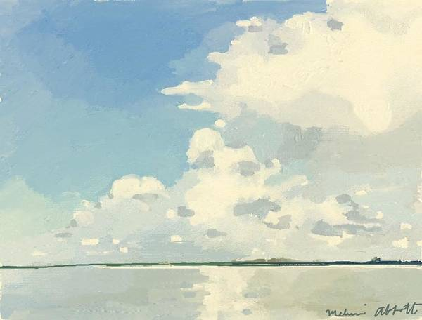 Banana River Art Print featuring the painting Storm Clouds Gathering by Melissa Abbott