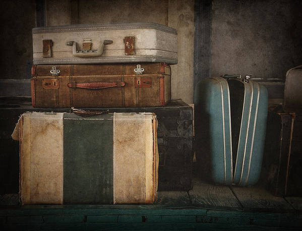 Luggage Art Print featuring the photograph Stranded by Amy Weiss