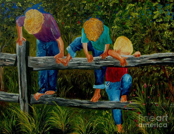 Boys Art Print featuring the painting Summer Fun by Inna Montano