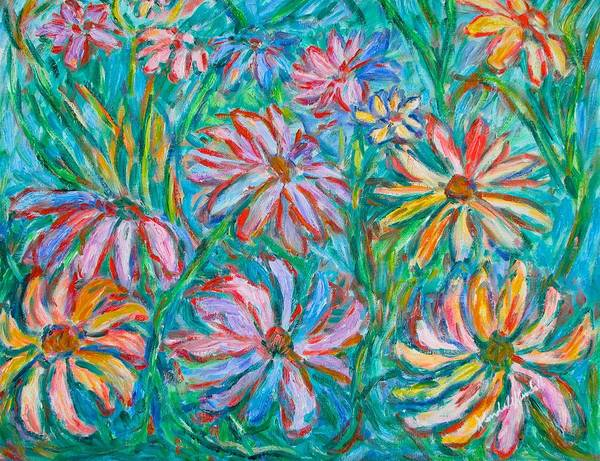 Impressionist Art Print featuring the painting Swirling Color by Kendall Kessler