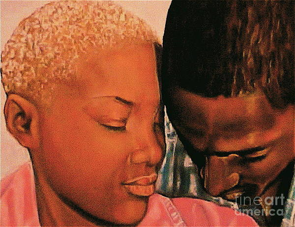 Talk To Me Baby Art Print featuring the pastel Talk To Me Baby II by Curtis James
