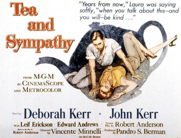 1950s Poster Art Print featuring the photograph Tea And Sympathy, John Kerr, Deborah by Everett