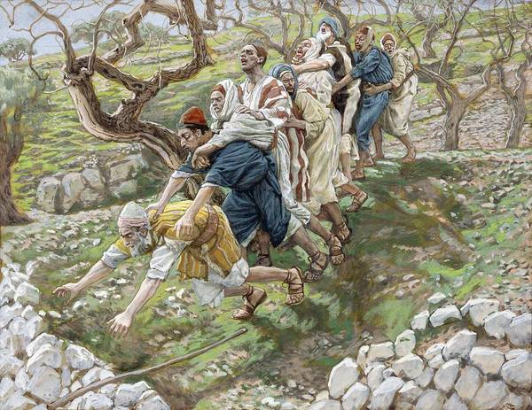 Sight Art Print featuring the painting The Blind Leading The Blind by Tissot