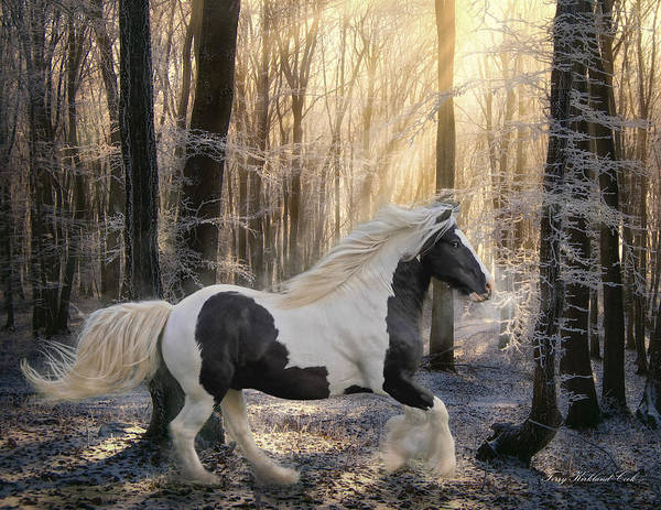 Equine Art Print featuring the digital art The Crystal Morning by Terry Kirkland Cook