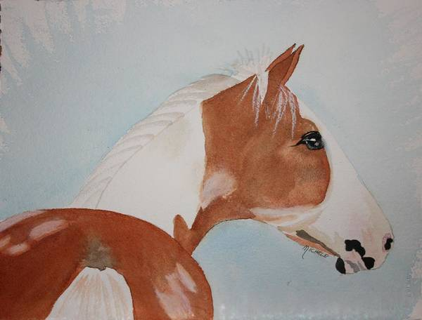 Horse Art Print featuring the painting The Paint by Michele Turney