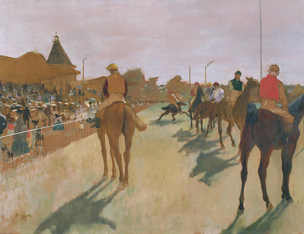 The Art Print featuring the painting The Parade by Edgar Degas