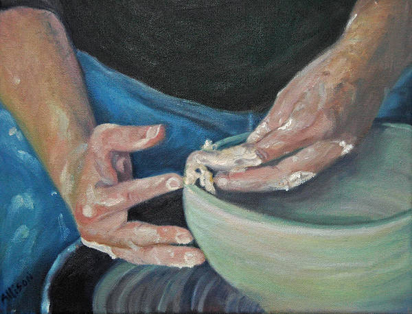 Potter Art Print featuring the painting The Potter by Stephanie Allison