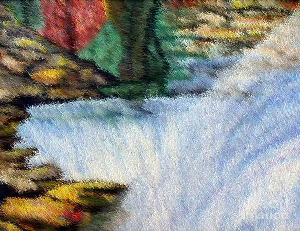Scenery Art Print featuring the digital art The Refreshing Se3 by Brenda L Spencer